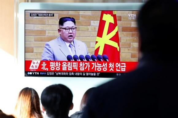 El mensaje de Kim Jong-Un. Foto: EFE