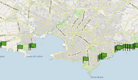 La herramienta ofrece diferente información sobre cada playa capitalina. Foto: IMM