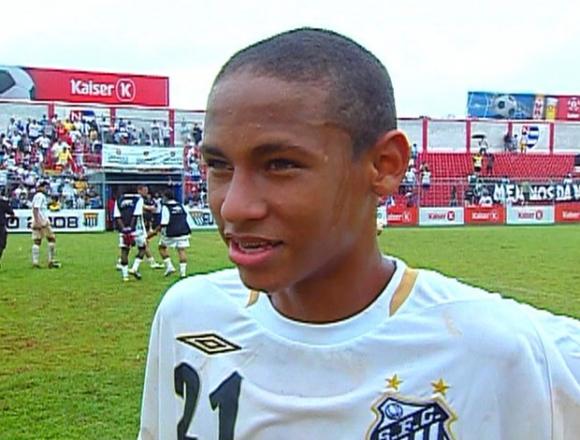Neymar en la Copinha con 15 años. Foto: Captura