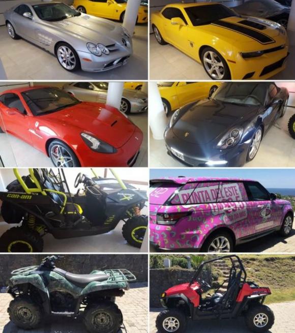 Los vehículos de la chacra de Balcedo. Foto: Infobae.