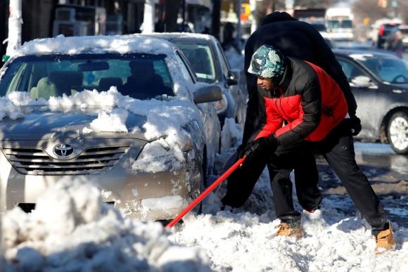 Nueva York: lo peor habría pasado, dicen los meteorólogos. Foto: Reuters
