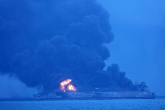 Colisión de buques en China