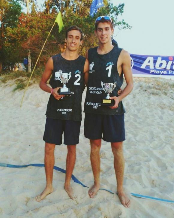 Marco Cairus y Mauricio Vieyto. Foto: Uruvoley.