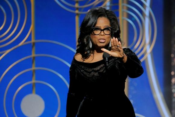 Oprah Winfrey en los Globos de Oro. Foto: Reuters.