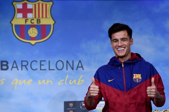 Philippe Coutinho en el museo del FC Barcelona