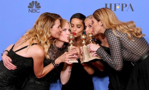 Las actrices Laura Dern, Nicole Kidman, Zoe Kravitz, Reese Witherspoon and Shailene Woodley de 'Big Little Lies. Foto: Efe