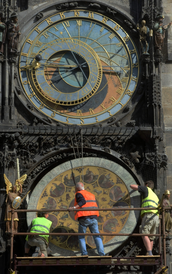 Reloj astronómico de Praga. Foto: AFP