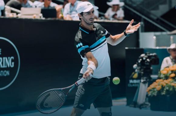 Pablo Cuevas en Auckland. Foto: ATP