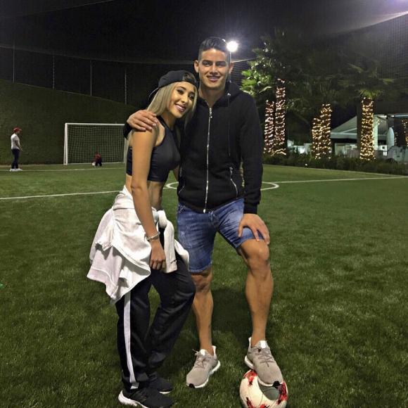 Daniela Henao y James Rodríguez. Foto: @danielahenao10