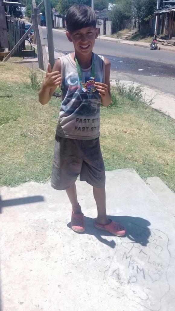 Juan Luis Silveira tiene 12 años. Foto: Gentileza Javier Mendoza