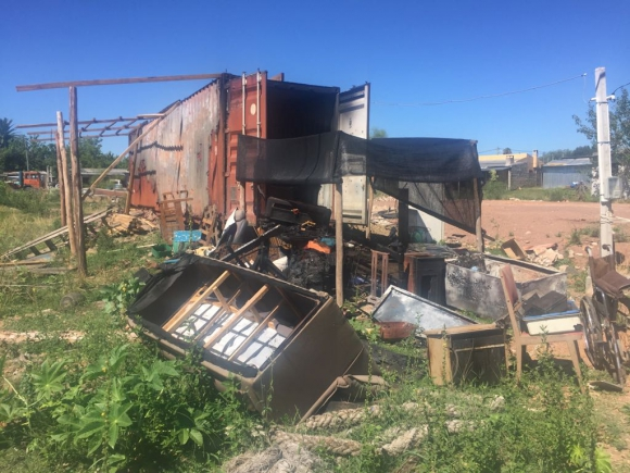 La casa presentó pérdidas totales. Foto: Néstor Araújo