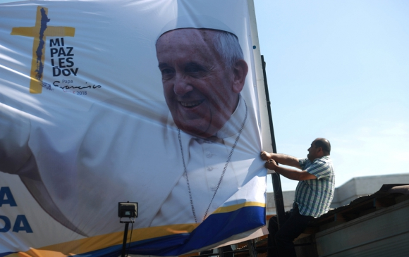 La capital chilena ajusta los últimos detalles para recibir a Francisco el lunes 15. Foto: Reuters