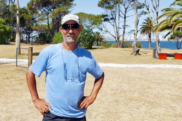 """José Méndez, conocido como """"El Grillo"""". Foto: Ricardo Figueredo"""