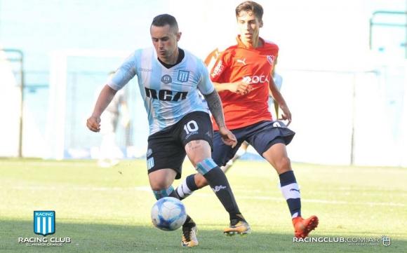 Rodrigo Amaral en el partido de reserva entre Racing e Independiente. Foto: Racing Prensa