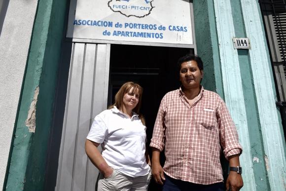 Yanella y Walter: directivos de los 800 socios del sindicato. Foto: F. Ponzetto