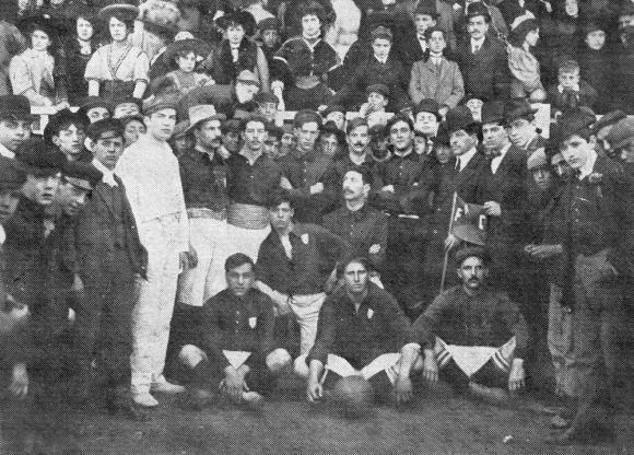 Un equipo del Albion de hace 110 años, en 1908.