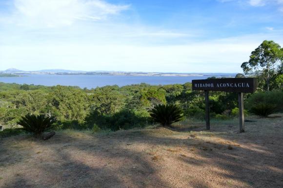 Vista de la bahía desde el mirador Aconcagua, en la loma de la sierra de Punta Ballena. Foto: Ricardo Figueredo
