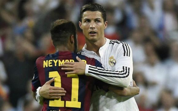 Cristiano Ronaldo y Neymar, cuando eran rivales en la Liga Española