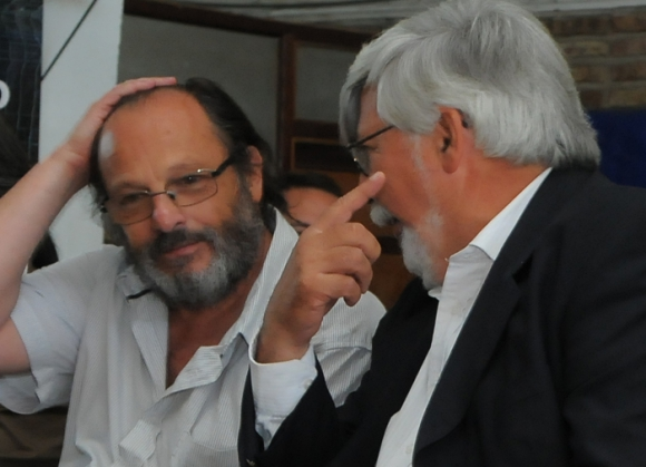 Olesker y Bonomi estuvieron entre los asistentes del encuentro de camaradería. Foto: D. Borrelli