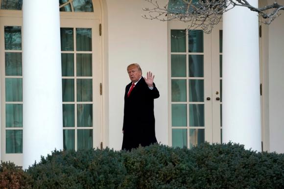 Donald Trump en la Casa Blanca. Foto: Reuters