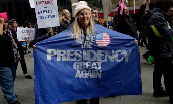 La Marcha de Mujeres en Nueva York fue multitudinaria. Foto: AFP