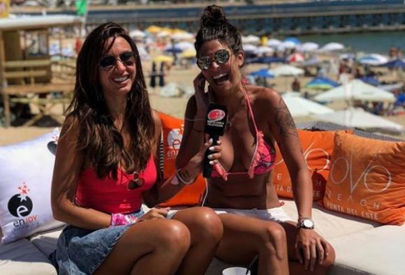 Ivana con Giannina Silva en Algo contigo