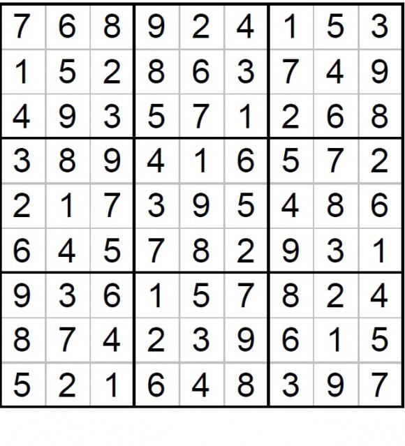Solución Sudoku