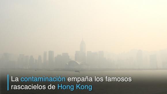 La contaminación empaña Hong Kong