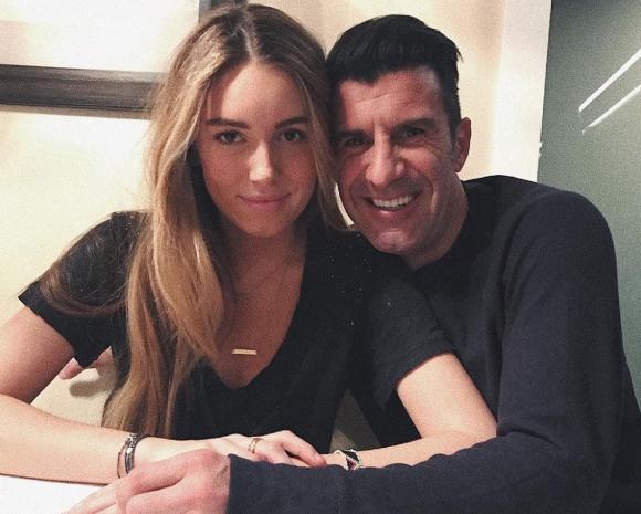 Luis Figo con su hija Daniela. Foto: @Luis__Figo