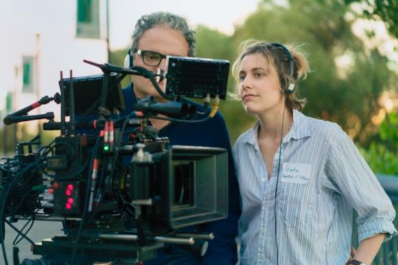 """Greta Gerwig en el set de """"Lady Bird"""""""