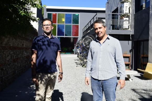Clave. Ciappesoni y Guarino considran la mudanza un paso estratégico. Foto: Marcelo Bonjour.