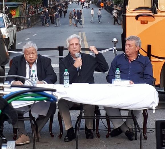 El presidente uruguayo en el lanzamiento de Rondamomo. Foto: El País
