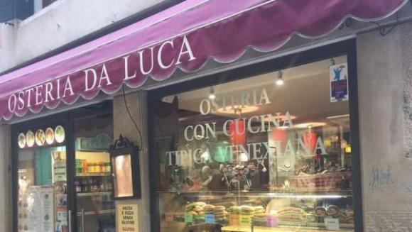 Imagen de la fachada del restaurante veneciano Osteria da Luca. Foto: Tripadvisor