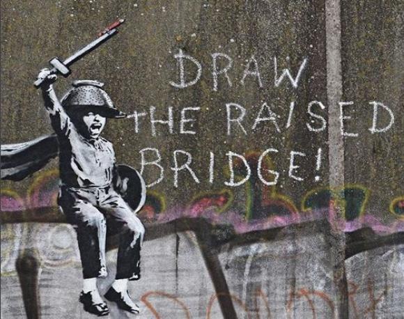 Nueva obra de Banksy hecha en la ciudad de Hull, en Inglaterra. Foto: @Banksy
