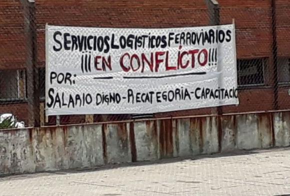 Unión Ferroviaria en conflicto. Foto: unionferroviaria.uy