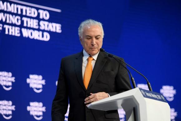 Michel Temer en el Foro de Davos. Foto: Efe.