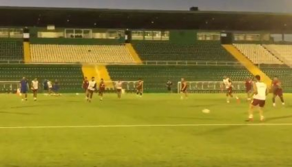 Nacional entrenando en el Arena Condá.
