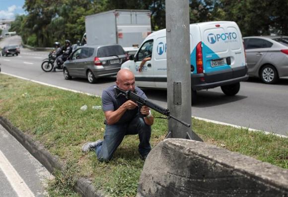 Operativo de seguridad en Río de Janeiro. Foto: EFE