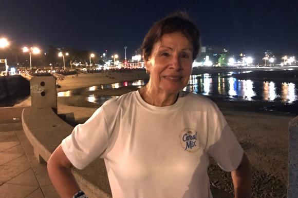 Norma Núñez, elegida Mujer de Hierro para la carrera de Melo. Foto: Emiliano Esteves