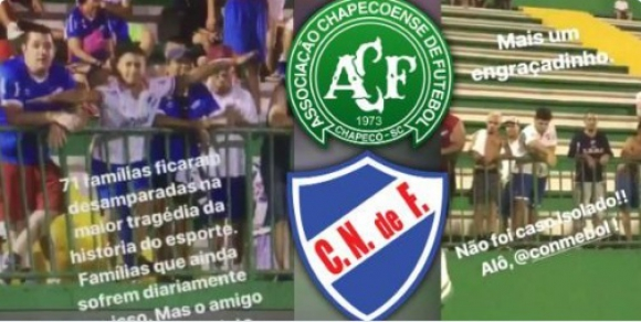 Nacional-Chapecoense. Foto: Captura de Video.