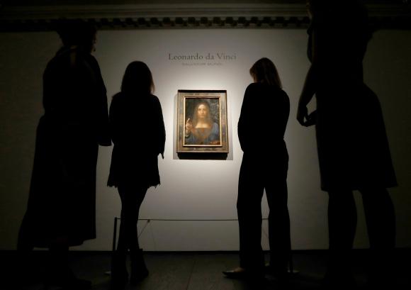 "Leonardo Da Vinci. La famosa obra ""Salvator Mundi"" fue vendida por US$ 450 millones. (Foto: Reuters)"