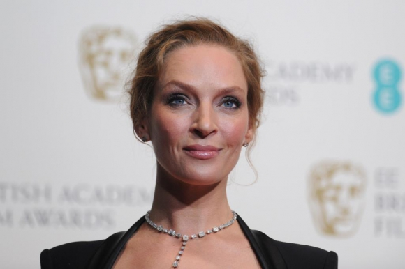 Uma Thurman en los BAFTA 2014. Foto: AFP