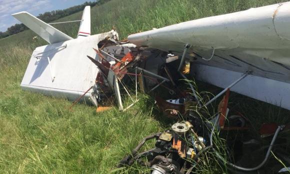 Cayó una avioneta en el Aeródromo de Canelones