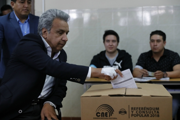 """""""Que los corruptos no vuelvan a burlarse de nosotros"""", dijo Moreno. Foto: EFE"""