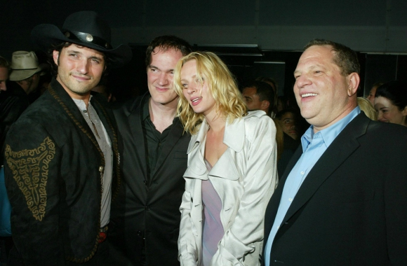 Uma Thurman y Harvey Weinstein