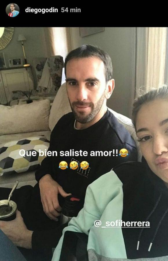 Diego Godín. Foto: Captura de Instagram.