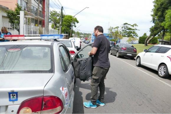 La valija despachada en Colonia solo tenía efectos personales. Foto: Ricardo Figueredo.