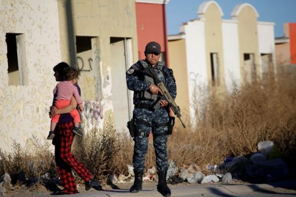Policial Federal de México en Ciudad de Juárez. Foto: Reuters