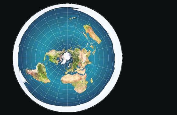 ¿Plato?: así sería la Tierra de acuerdo a la visión de los terraplanistas. Foto: El País