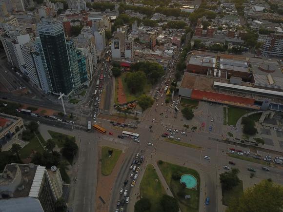 Obras en Tres Cruces. Foto: Gabriel Rodríguez